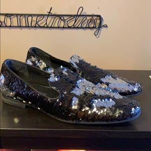 """Giorgio Brutini Men's """"Glitter Flip"""" loafers."""
